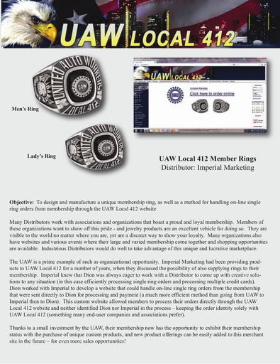 UAW Local 412 Ring Case Study