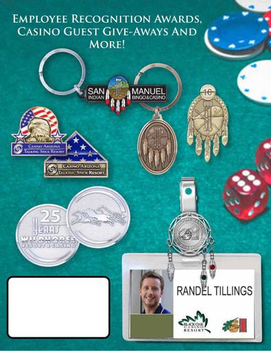 Custom Casino Employee Badge Holders and Visitor Commemoratives